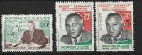 "Madagascar YT 353 355 Et 356 "" Pdt Tsiranana "" 1960 Neuf** - Madagascar (1960-...)"