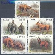 Congo Kinshasa/Zaire 1993 Mi 1079-1083 MNH ( ZS6 ZRE1079-1083 ) - Rhinocéros