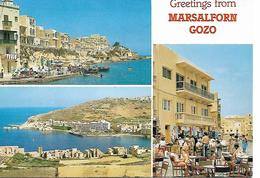 MALTE ILE DE GOZO MARSALFORN MULTIVUES PORT RESTAURANT - Malta