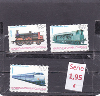Guinea Ecuatorial  -  Serie Completa Nueva**  (Trenes Ferrocarriles - Railway Trains) - 1/242 - Guinea Ecuatorial