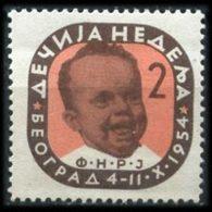 YUGOSLAVIA 1954 - Scott# RA12A Infant Set Of 1 LH - 1945-1992 Repubblica Socialista Federale Di Jugoslavia