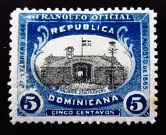 1902 République Dominicaine Mi D2 , Sn 02 .Stronghold Timbre De Service ;  Neuf Trace Charnière - Dominicaine (République)