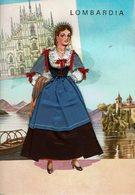 AK - Volksdracht Trachten - Postkaart Met Textiel - LOMBARDIA / ITALIA - Europe