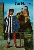 AK - Volksdracht Trachten - Postkaart Met Textiel - SAN MARINO / ITALIA - Europe