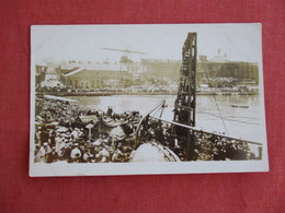 RPPC  Busy Harbor Scene   Ref 3127 - Postcards