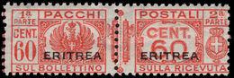Eritrea 1927-37 60c Parcel Post Pair Unmounted Mint. - Erythrée