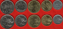 ETIOPIA ETHIOPIA SERIE 5 MONETE 50-25-5-1 SANTEEM FDC UNC - Etiopía