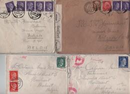 PR6174/ 21 Lettres Guerre 40-45 Allemagne V. Belgique Diverses Censures Bon Lot - WW II