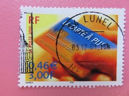 Timbre France YT 3426 - Le Siècle Au Fil Du Timbre - Sciences - La Carte à Puce - 2001 - Cachet Lunel (34) - France