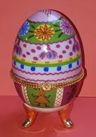 Oeuf En Porcelaine, De Collection, Boite à Bijoux Style Fabergé - Oeufs