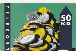 Denmark, TD 002E, Coins, 2 Scans.          Serial Number: 4001 053001-068000 - Denmark