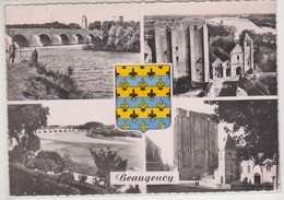 26625 BEAUGENCY Loiret 45 : La Loire Pont Tour César église Musée Dunois -multivues 27 CAP - Blason - Beaugency