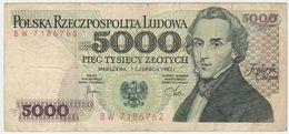 Poland P 150 A - 5000 5.000 Zlotych 1.6.1982 - Fine+ - Polonia