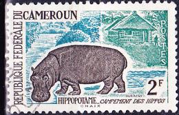 Karemun - Flusspferd (Hippopotamus Amphibius) (Mi.Nr.: 358) 1962 - Gest Used Obl - Cameroun (1960-...)
