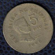 Philippines 1998 Pièce De Monnaie Coin 5 Piso Président Emilio Aguinaldo SU - Philippines