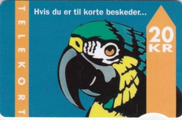 Denmark, TD 005D, Parrot With Text, 2 Scans.          Serial Number: 4007 000001-100000  Exp. : 01.95 - Denmark