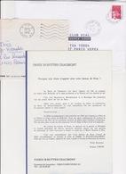 Lot 3 Lettres Oblitération PARIS 19 BELVEDERE : TàD Manuel SECAP (Ex Recette Distribution) - Marcofilia (sobres)