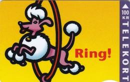 Denmark, TD 010, Jumping Dog, 2 Scans.          Serial Number: 4203 000001-010000 - Denmark