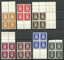 LETTLAND Latvia 1940 Lot 4-Blöcke Aus Michel 281 - 291 MNH - Lettonie