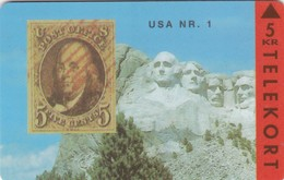 Denmark, TP 023, 5kr,  Rare Stamps - Usa Nr.1, Mint, Only 3000 Issued, 2 Scans. - Denmark