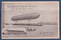 CP 1er Vol Du Dirigeable Graf Zeppelin , Erster Aufstieg Des Luftschiffes Graf Zeppelin 2.7.1900 - Dirigibili