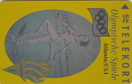 Denmark, TP 034, Hologram, Olympics Lillehammer 1994, Gymnastic, Mint, Only 6000 Issued, Sport, 2 Scans. - Denmark
