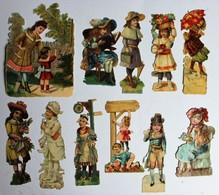 11 Image Découpis Enfants Jeune Fille - Children