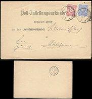 19261 DR Brief ZU Schönau Wiesenthal  - St Blasien 1886 , Bedarfserhaltung , Signiert Jäschke Lantelme. - Covers & Documents