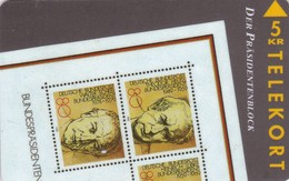 Denmark, TP 035,  1/2 Puzzle, Stamp On Cards, German Presidents, Mint , 2 Scans. - Denmark