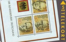 Denmark, TP 036,  2/2 Puzzle, Stamp On Cards, German Presidents, Mint , 2 Scans. - Denmark