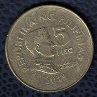 Philippines 2013 Pièce De Monnaie Coin 5 Piso Président Emilio Aguinaldo SU - Philippines