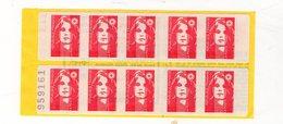 Carnet Marianne De BRIAT 10 Timbres N°2874-C8, Essayez L'enveloppe Pré-timbrée - Carnets