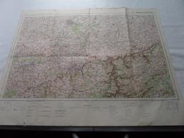 MAUBEUGE - BRUXELLES ( Flle N° 5 - Type 1912 ) Schaal / Echelle / Scale 1/200.000 ( Voir / Zie Photo) - Cartes Géographiques