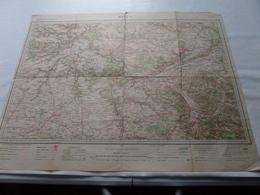 MELUN ( Flle N° 25 ) Schaal / Echelle / Scale 1/200.000 ( Voir / Zie Photo) - Carte Geographique
