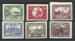 LETTLAND Latvia 1928 Michel 138 - 143 B * (Mi 143 Signed Richter) - Lettonie