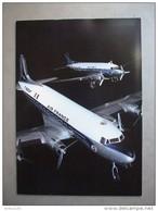 MENU AIR FRANCE - AVION PLANE DOUGLAS DC3 DC4 - PARIS BUENOS AIR - PARCOURS PARIS RIO De JANEIRO - 3 Scans - - Menus