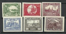 LETTLAND Latvia 1928 Michel 138 - 143 B * - Latvia