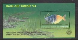 Indonesie Indonesia 1583 Sheet MNH ; Vissen, Fish, Poissons, Pescado 1994 ; NOW MANY STAMPS OF ANIMALS - Vissen