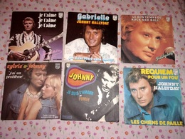 "JOHNNY HALLYDAY Rare LOT 6x7"" Sylvie Vartan Gabrielle Rock 'n' Roll - Rock"