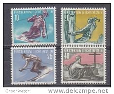 Liechtenstein 1955 Sport II Bergsteigen Und Skilaufen 4v * Mh (= Mint, Hinged) (41665A) - Liechtenstein