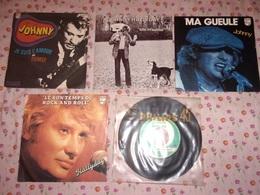 "JOHNNY HALLYDAY Rare LOT 5x7"" Rock 'n' Roll Ma Gueule Jukebox - Rock"