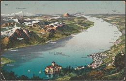Lac Léman, Vaud Et Genève, 1912 - Louis Burgy CPA - VD Vaud