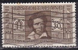 Regno D'Italia, 1932 - 30c Ugo Foscolo - Nr.307 Usato° - 1900-44 Vittorio Emanuele III