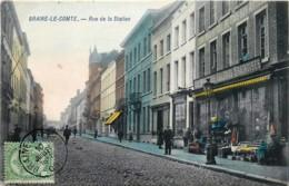 Belgique - Braine-le-Comte - Edit. Marcovici Couleurs - RUE De La STATION - GALERIES BRAINOISES - BON MARCHE - Braine-le-Comte
