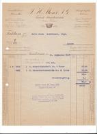 F103 - Facture Rechnung 1927 Frutigen Fabrik Kanderbrück Moser  Pour Schulthess Sierre - Suisse