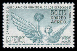 Mexico, 1958, Human Rights Declaration, United Nations, MNH, Michel 1083 - Messico