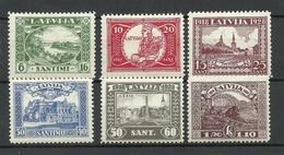 LETTLAND Latvia 1928 Michel 138 - 143 A * - Lettonie
