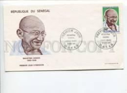 291560 SENEGAL 1969 First Day COVER Mahatma Gandhi - Senegal (1960-...)