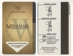 Hotelkey Key Card Winsor Hotels MIRAMAR Palace Hotel Rio De Janeiro BRAZIL - Hotel Keycards