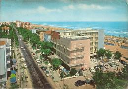 RICCIONE. Viale G. D'Annunzio & Spiaggia.  (scan Verso) - Italie